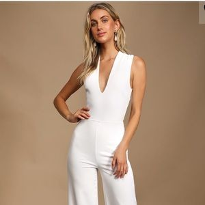 LULUS THINKING OUT LOUD BACKLESS JUMPSUIT